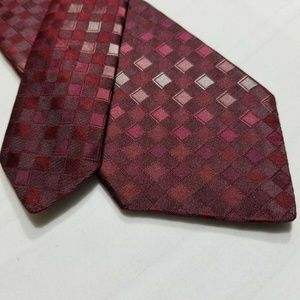 100% Silk MURANO Gray/Red Skinny Tie ~2.75""